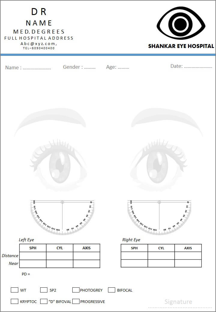 Designs For Medical Prescription Template – Indoclinic Blog