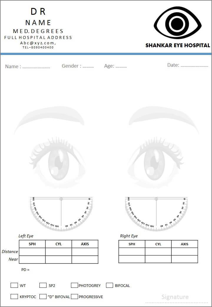 Free Fancy Prescription Design   Ophthalmologist