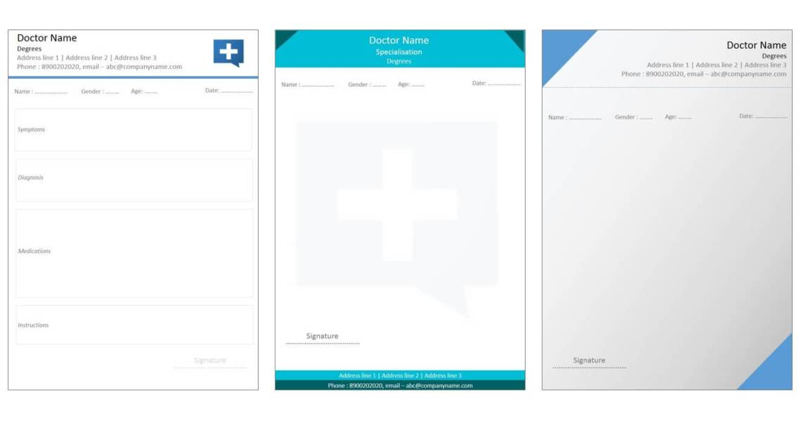 Designs For Medical Prescription Template  Indoclinic Blog